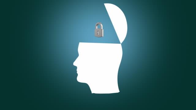 Human brain thinking. video
