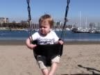 Human Development: Play, Balance on Playground Swing video