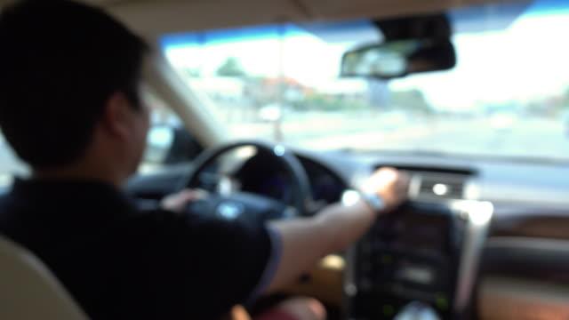 human driving car video