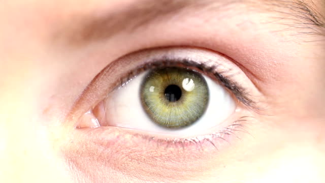 Human Eye. Blue and green. Regular skin. video
