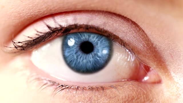 Human Eye. Blue. White/regular skin. video