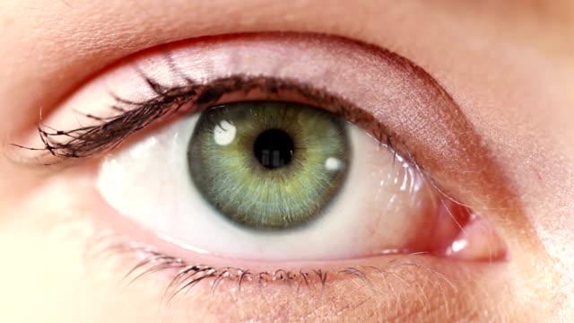 Human Eye. Multicolored/green. Regular/white skin. video