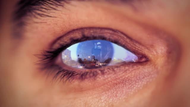 Human Eye Reflection Traffic video