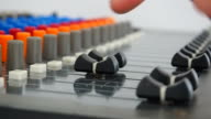 Human operator's work for mixing desk video