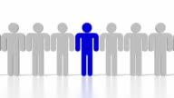 3D human resources concept video