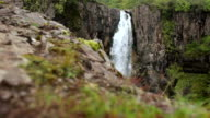 Hundafoss waterfall in Iceland video