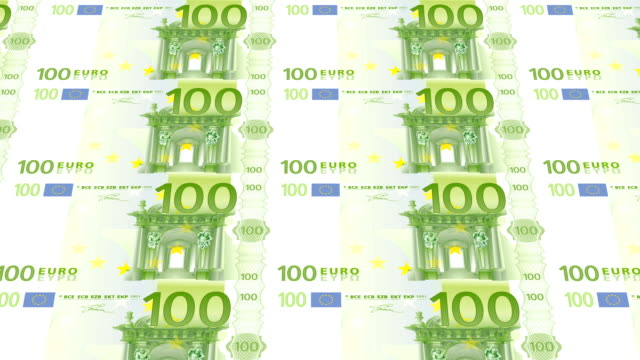 hundred euro bills printing - animation video
