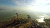 AERIAL Hungarian lake Balaton video