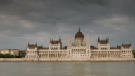 Hungarian Parlaiment panning time-lapse video