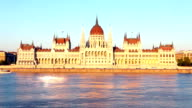 Hungarian Parliament, Budapest at daylight video