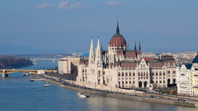 Hungarian Parliament Building in Budapest video