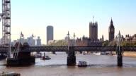 Hungerford Bridge and Trafalgar Square , London video