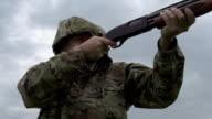 Hunter Shoots a Gun video