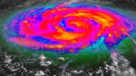 Hurricane Infrared Satellite View V1 (HD) video