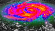 Hurricane Infrared Satellite View video