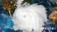 Hurricane Satelite Video Recording video