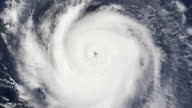 Hurricane Satellite View of Eye (HD) video