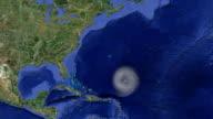 Hurricane weather tracking video