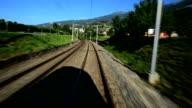 Hurtling train in Switzerland video