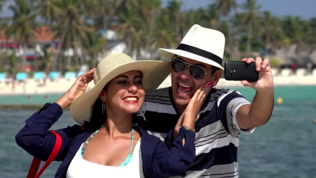 Husband And Wife Selfie On Vacation video
