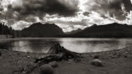 Hyalite Mountain Reservoir. Monochromatic video