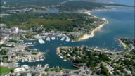 Hyannis Port - Aerial View - Massachusetts,  Barnstable County,  United States video