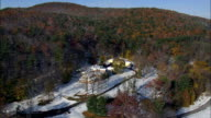 Hyde Hall - Aerial View - New York,  Otsego County,  United States video