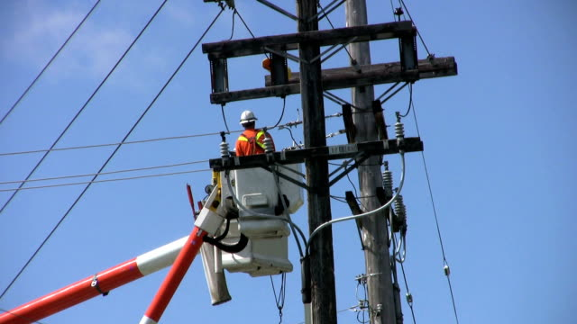 Hydro Repair Team Fixing A Problem On The Line(HD 1080p30) video