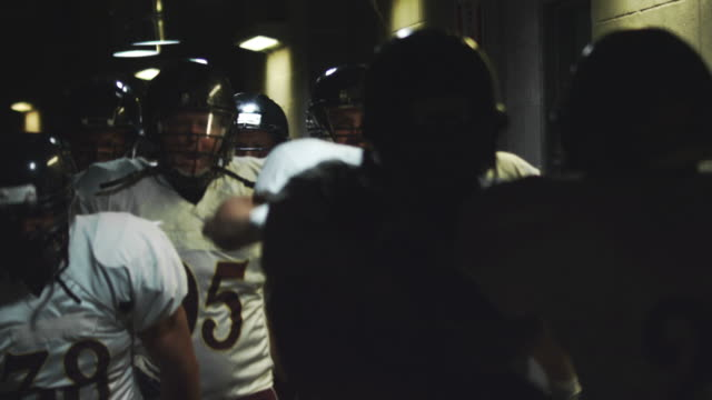 Hyped up football team video