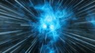 Hyper jump to the Dark Planet. Sci-fi vfx animation. video