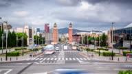 Hyper Lapse of famous Plaza de Espana in Barcelona, Spain video