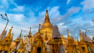 Hyper Time Lapse Day To Night Golden Shwedagon Pagoda Of Yangon Myanmar video