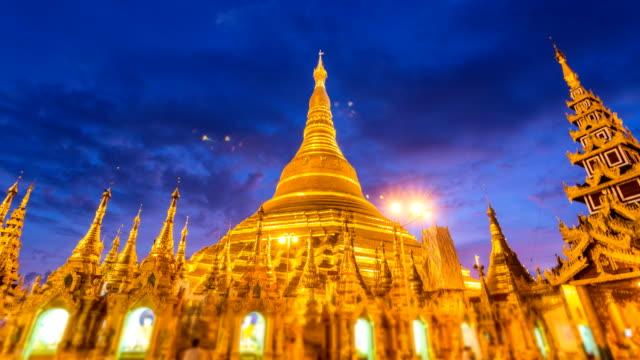 Hyper Time Lapse Night to Day Golden Shwedagon Pagoda Of Yangon Myanmar video