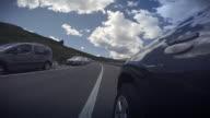 Hyperlapse POV Car driving on the Dolomites, European Alps video