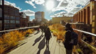 Hyperlapse of the High Line Park in New York City video