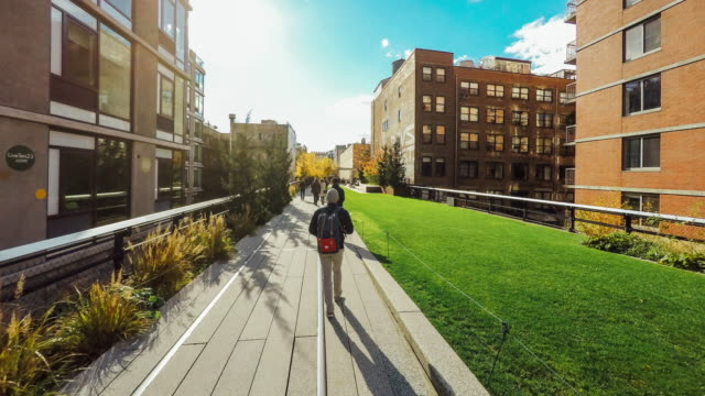 Hyperlapse of the High Line Park in New York City video