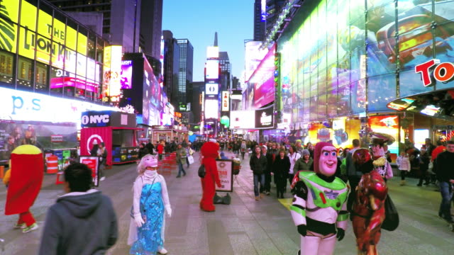 Hyperlapse of Times Square in New York City video