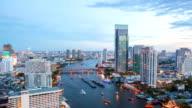 Hyperlapse Panning Timelapse: Bangkok Downtown at dusk video