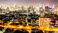 Hyperlapse Panning Timelapse: Bangkok Downtown at night video