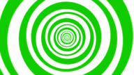 Hypnotic, Magical, Turning Circles in Green/White for Backgrounds video
