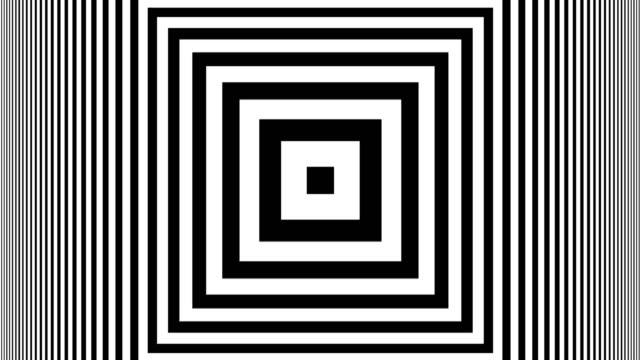 Hypnotic Rhythmic Movement Black And White stripes video