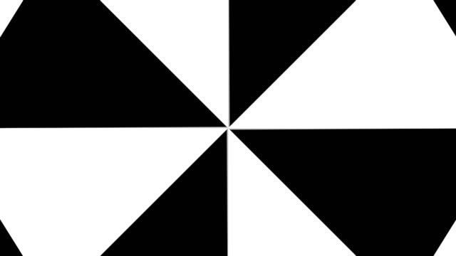 Hypnotic Rhythmic Movement Black And White triangles video