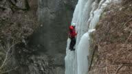 HD: Ice climbing video