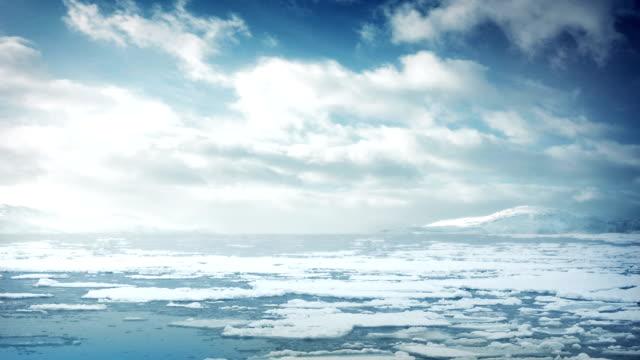 Ice Flow In Arctic Sea video