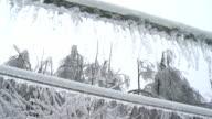 Ice Glaze On Power Lines video