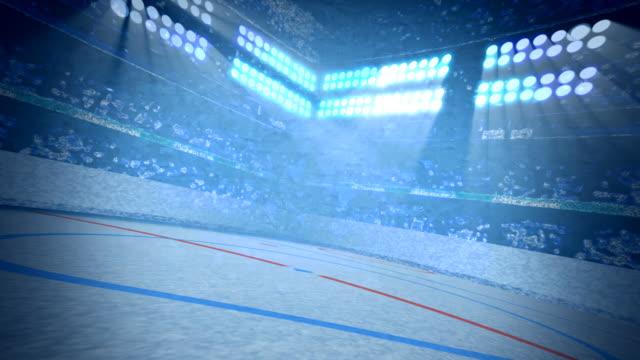 Ice Hockey Arena Background Loop video