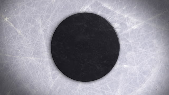 Ice Hockey Puck Face-off and Hit on It video