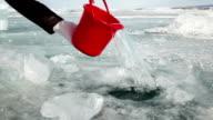 Ice Hole in Lake Baikal video