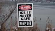 Ice is NEVER Safe Sign video