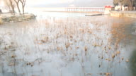 Ice Lake at Summer palace , morning fog , Beijing , China video